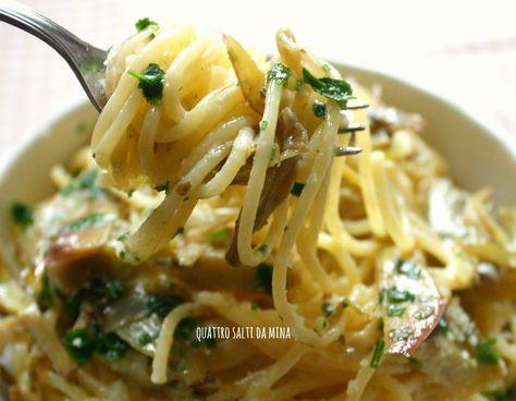 La nostra avventura con il blog Quattro salti da Mina è iniiata con questa ricetta:gli spaghetti alla carciofara! Ne è passato di tempo e ne sono successe