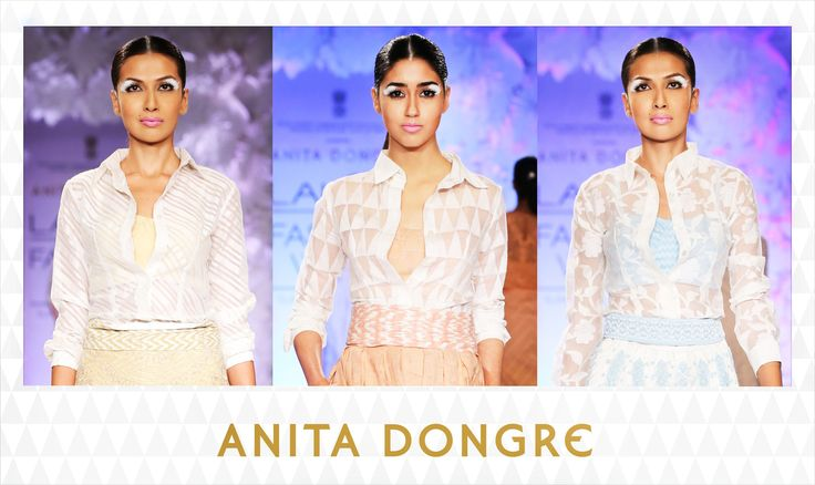 The classic white shirt gets a romantic touch with delicately textured fabrics. #lfw #varanasiweaves  To buy online - http://shop.anitadongre.com/runway-special/?utm_source=FBADPAGE&utm_medium=FBPOST&utm_campaign=FB