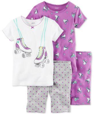 Carter's 4-Pc. Roller Skates Cotton Pajama Set, Little Girls (4-6X) & Big Girls (7-16)