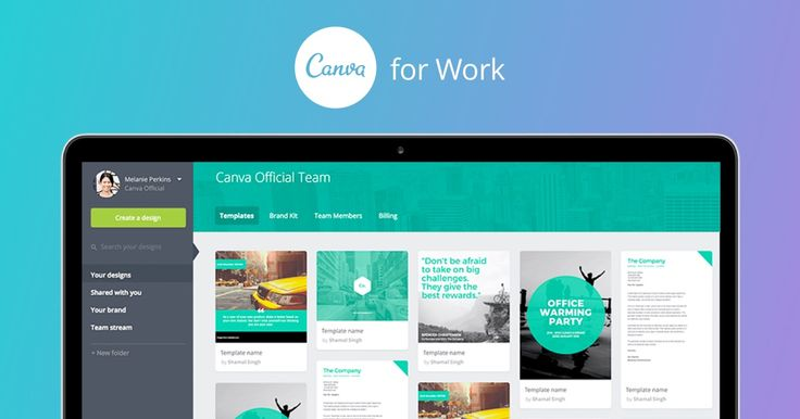 Upgrade to Canva for Work