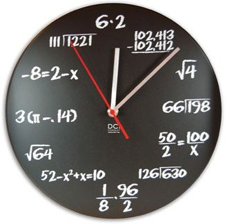 Tell me the time. Come on, we dare you.   Amazing gift for the teacher or math…