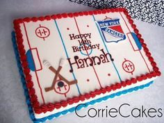 Hockey birthday cake ideas