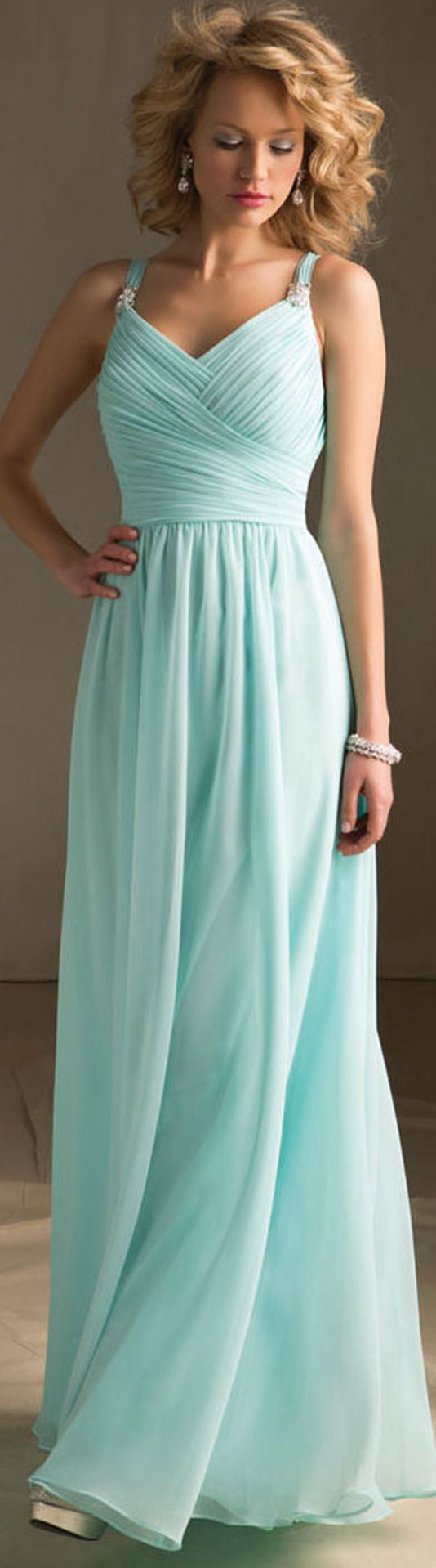 Floor-length Chiffon A-line Natural Zipper Bridesmaid Dresses