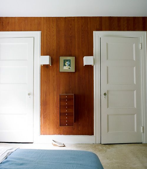 Wood Paneling White Trim And Doors White Paneling