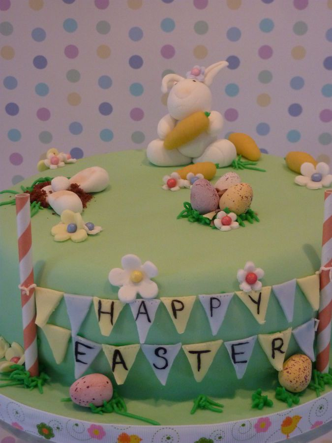 take away the eggs and make it a bunny birthday cake?