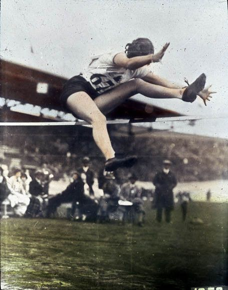 Ethel Catherwood won the gold medal for Canada in the women's high jump at the 1928 Amsterdam Games.