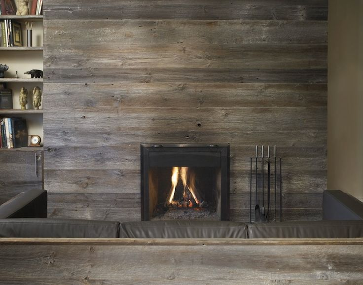 barnwood from 1878 -- makes a perfect fireplace