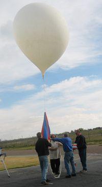 NOAA weather balloon launch.