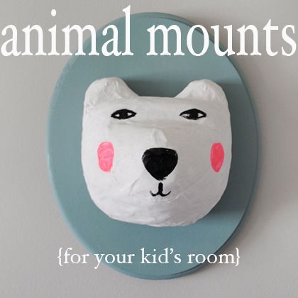 Creative Ways To Mount Animal Heads For Your Kid S Room