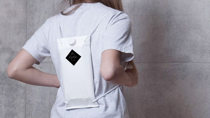 This drinks carton-style backpack by Kingston University graduate Magdalena Huber is designed to help music festival-goers avoid long bar queues.
