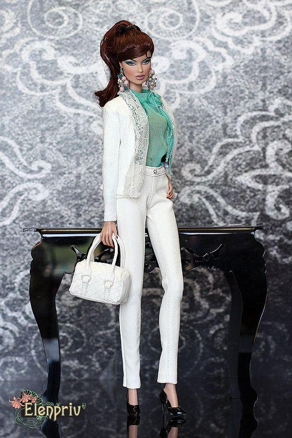 ELENPRIV białe skórzane spodnie Moda royalty FR2 przez elenpriv