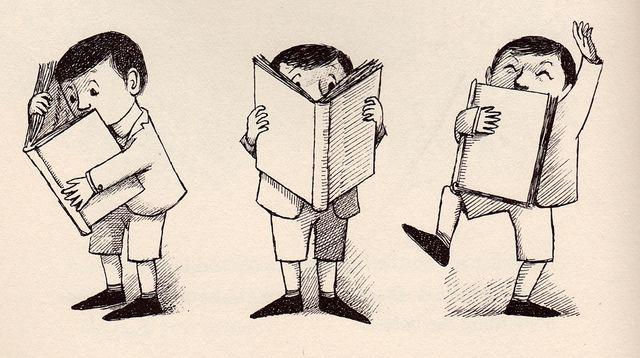 Such a cute drawing by the brilliant, sorely-missed illustrator Maurice Sendak. Sigh.
