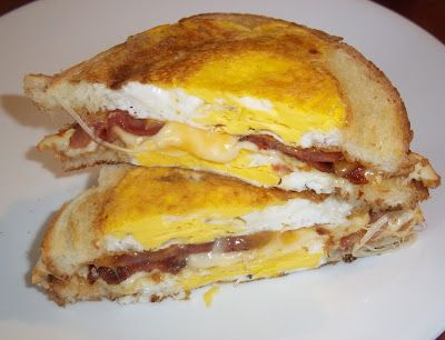 Egg In A Hole Grilled Cheese Sandwich - Good any time of day, but excellent late at night!