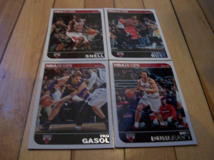 DERRICK ROSE TONY SNELL PAU GASOL MIKE DUNLEAVY 2014-15 Hoops Bulls (4) Card Lot