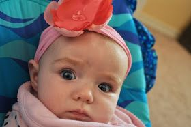Little Birdie Secrets: easy stretchy baby headband tutorial