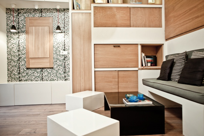 17m2 in Montmartre, with flexible furniture