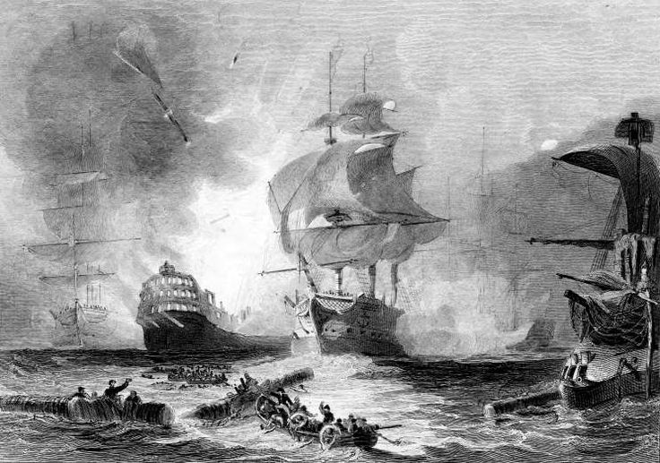 August 3,1798: BATTLE OF THE NILE ENDS  -   The British fleet under Admiral Horatio Nelson forces the French to surrender, concluding a decisive victory for the British who capture or destroy 11 French ships of the line and 2 frigates.