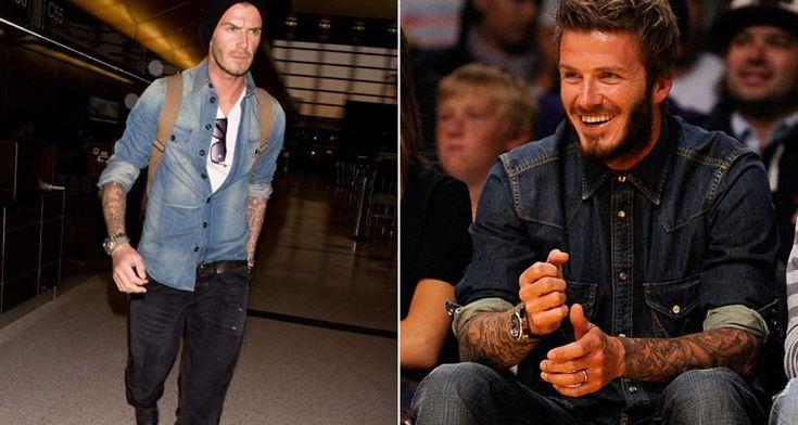 """David Beckham é o cara e já sabemos disso.Mas a revista """"People"""" decidiu reforçaressa ideiaao elegê-lo o homemmais sexy do mundo em 2015. Ok, temos que"""