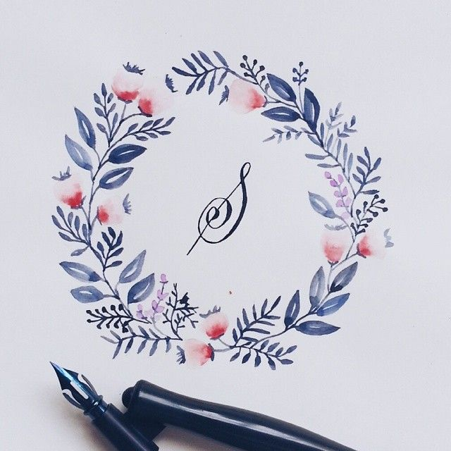 Grafikas.com - calligraphy and beautiful watercolor wreaths