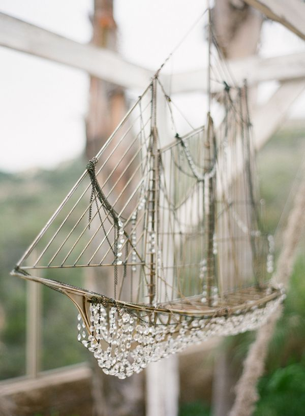 Sail ...Gorgeous hanging model boat. Ocean Inspiration. Get Creative. Crystals  Ship