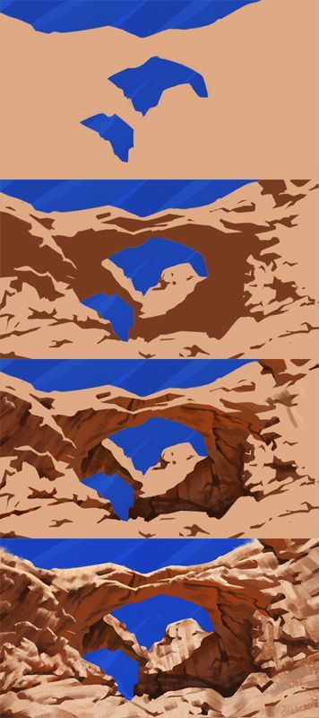 Double Arch Study - step by step by Thorsten-Denk