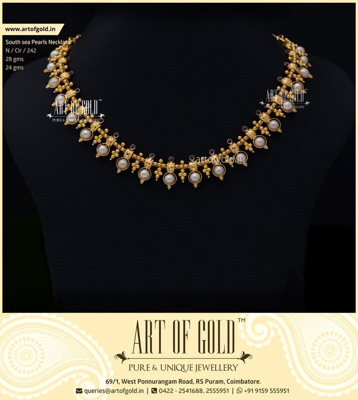 Champagne Pearls with Minimal Gold work and complimenting Garnet Stones make this necklace an ideal evening wear.