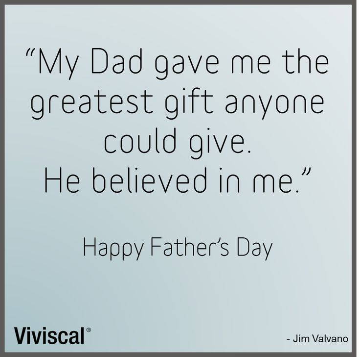 #FathersDay quote from #Viviscal