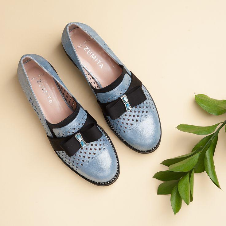 Женская мода, туфли закрытые Zumita, колекция 2017 Супер мягкая и удобная модель!