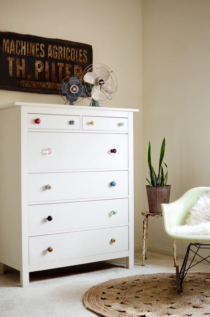 Photo of Ikea Hemnes 6 Drawer Dresser Hack With Mismatched Dresser Knobs  from gallery of Superb Like A Pro Inspiration for DIY Ikea Dresser Hack.
