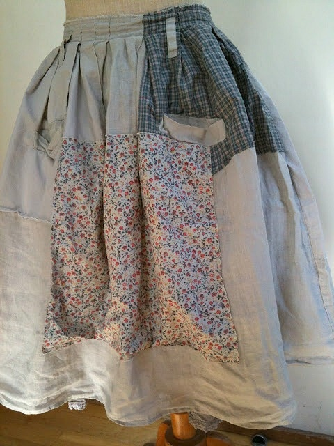 Recycled Upcycled Ladies Skirt Altered Wearable Art