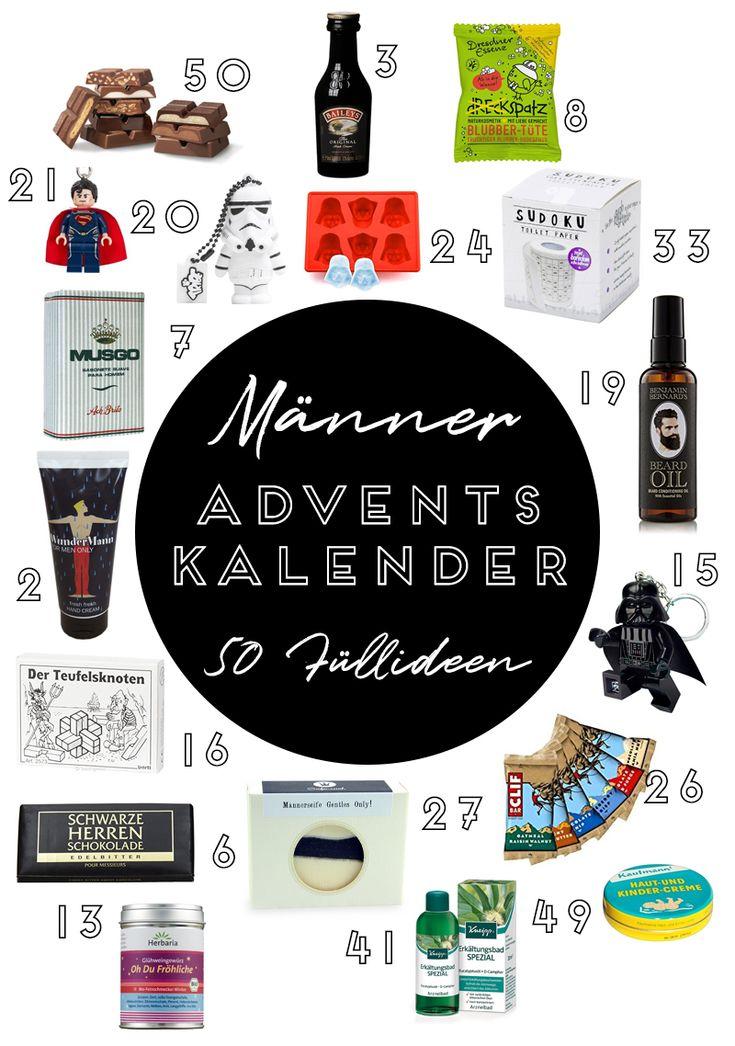 50 Ideen für die Adventskalender-Füllung für deinen Freund, Mann oder Bruder