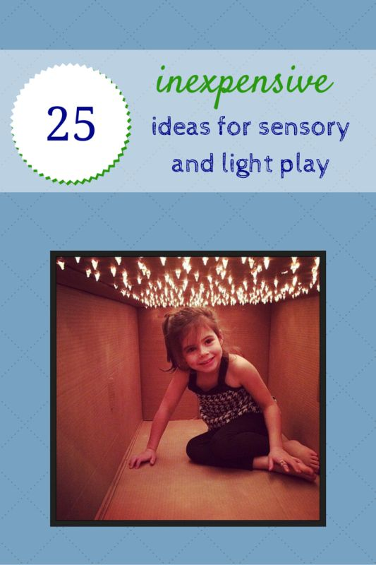 Building a sensory den, sensory play area or light play area doesn't have to be expensive. Here are some ideas that any parent or teacher can do.