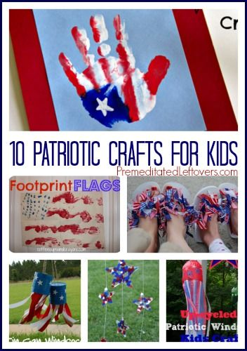 10 Patriotic Crafts For Kids - 10 fun craft projects that you can do with your children to celebrate the 4th of July and other patriotic holidays.