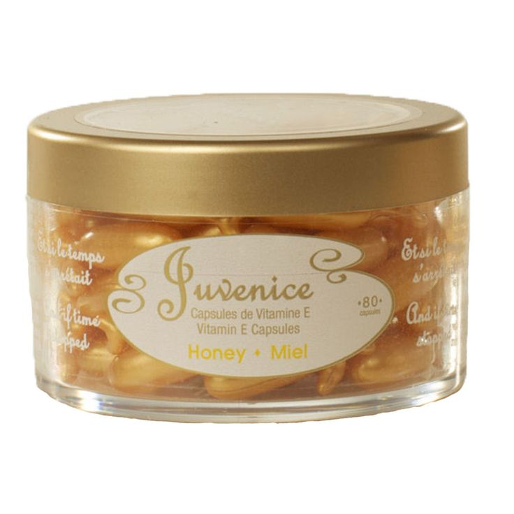 Juvenice Vitamin E Capsules with Honey - 80 Capsule Bottle - Face, Body, Hair