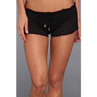 $66, Black Crochet Shorts: Melissa Odabash Lyon Shorts Swimwear Crochet Black. Sold by Zappos. Click for more info: http://lookastic.com/women/shop_items/60513/redirect