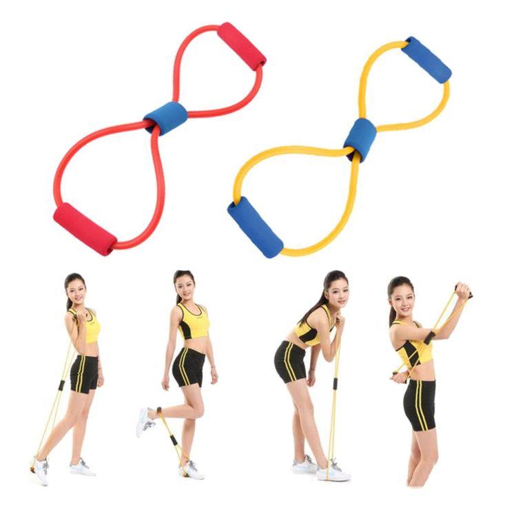 Widerstand 8 typ muscle expander seil workout ziehen exerciser fitness-übungs-schlauch sport yoga neue die gleichen festigkeit