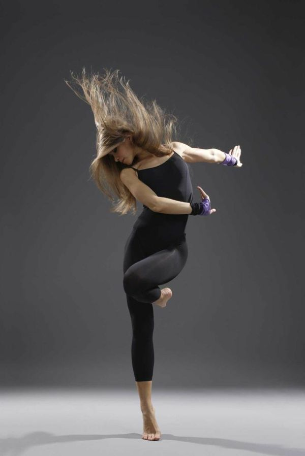 tenue de danse moderne, tenue simple et typique pour la danse contemporaine