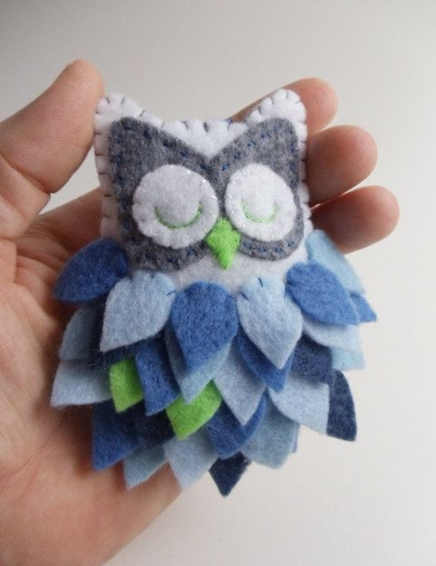 Felt Owl Ornament by BananaBugAndZod on Etsy