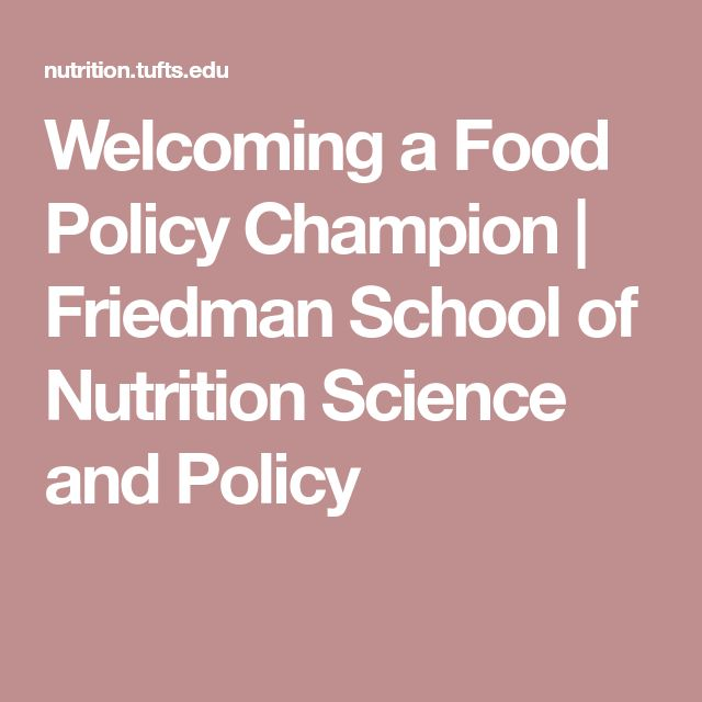 Welcoming a Food Policy Champion | Friedman School of Nutrition Science and Policy