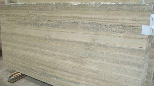 Silver Travertine Marble Slab