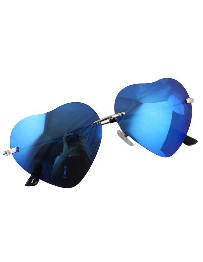 Blue Heart Shape Women Sunglasses