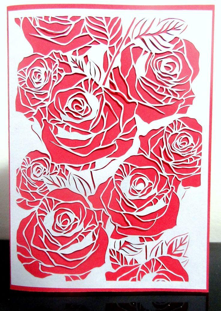 Papercut Rose LOve Like . Share . Order custom paper-cuts by My Paper CLoud  @ https://www.facebook.com/MyPaperCloud