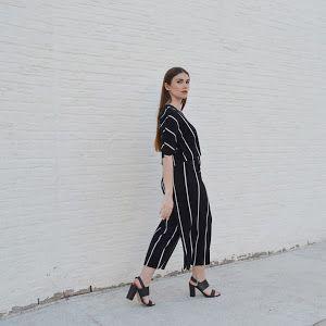 Palazzo striped pants Zara, black sandals