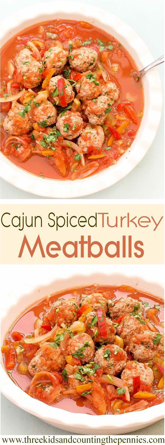 turkey meatballs and chunky veg in a cajun sauce simple meatball ...