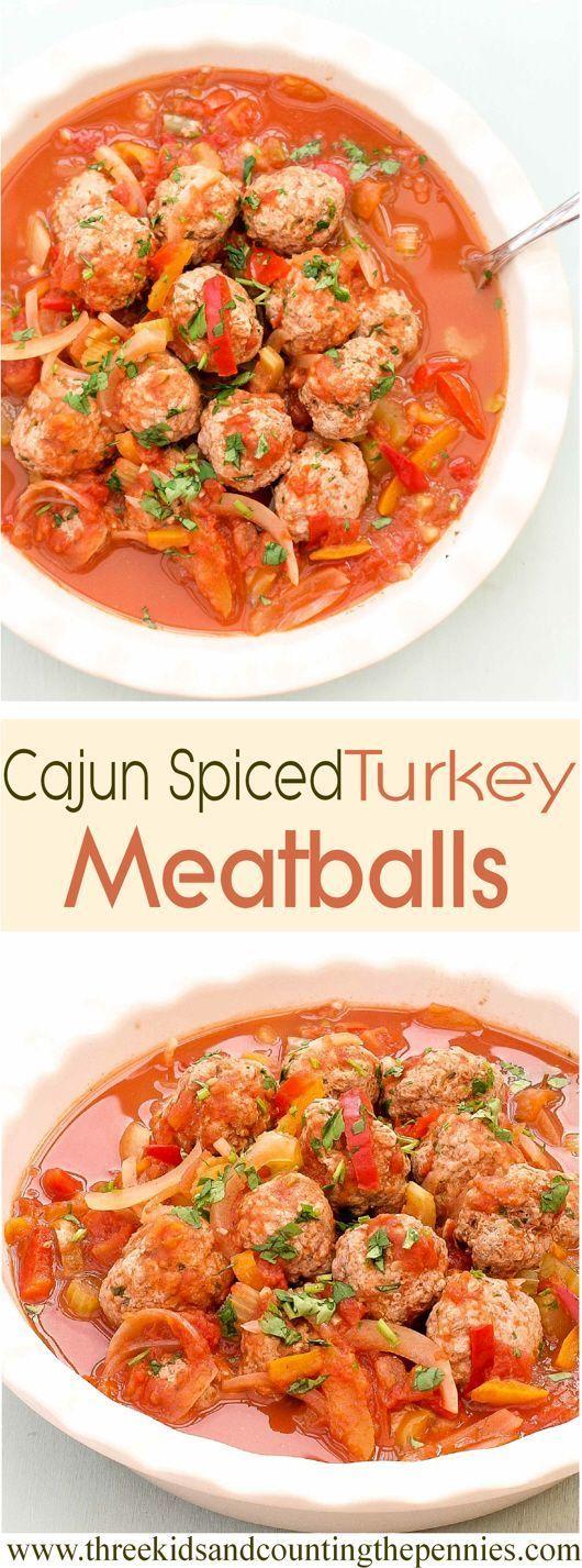 turkey meatballs and chunky veg in a cajun sauce simple meatball ...