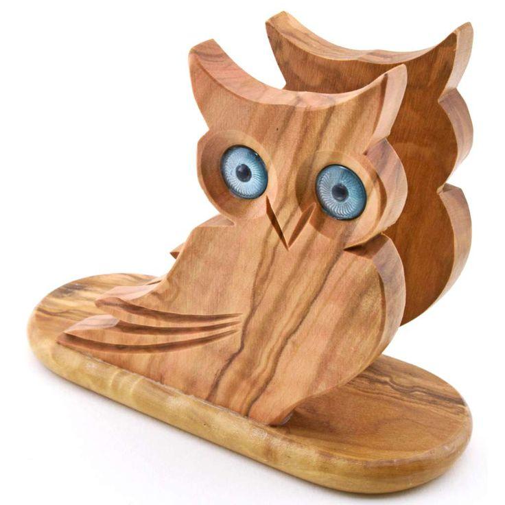 Napkin holder owl 36009