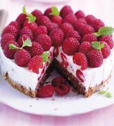 Leichte Himbeer-Joghurt-Torte