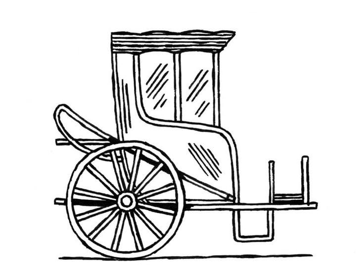 chaise de poste voiture de voyage ferm e pour une ou deux personnes la caisse port e par. Black Bedroom Furniture Sets. Home Design Ideas