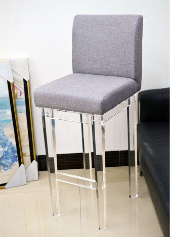 acrylic bar counter stool