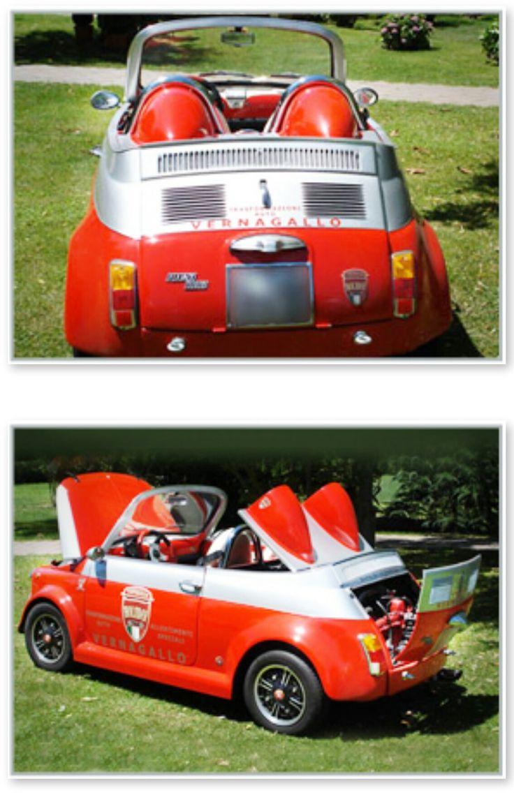 FIAT 500 SPEEDSTER-Custom car Italia-Roadster-Customized and RESTORATION